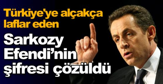 Sarkozy Efendi'nin sırrı ortaya çıktı !