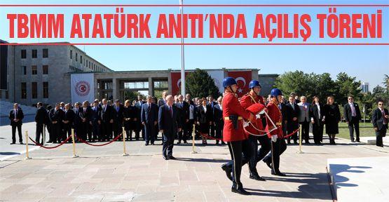 TBMM Atatürk Anıtı'nda açılış töreni
