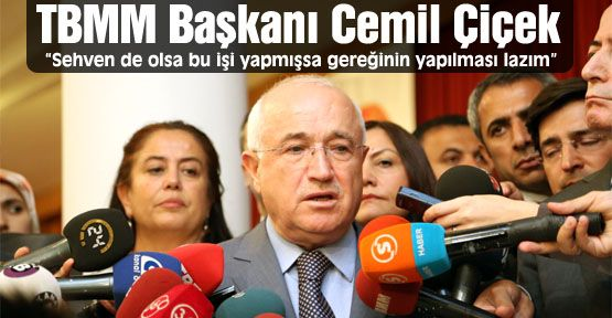 """TBMM Başkanı Cemil Çiçek: """"Gereğinin yapılması lazım"""""""
