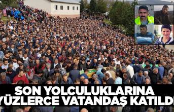 Son yolculuklarına yüzlerce vatandaş katıldı