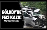 Gölköy'de feci kaza! 1ölü 4 yaralı