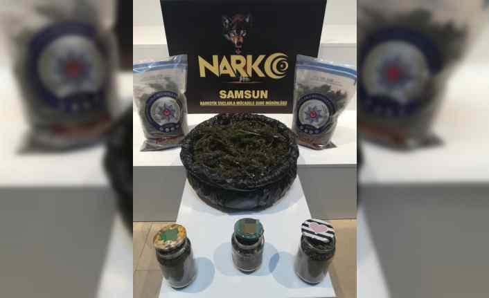 Samsun'da 5 kilogram uyuşturucuyla yakalanan 2 kişi gözaltına alındı