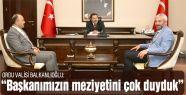 Başkan Yılmaz'dan Vali Balkanlıoğlu'na Ziyaret