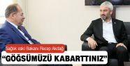 Eski Bakan Akdağ: