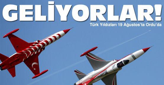 Türk Yıldızları Ordu'ya geliyor
