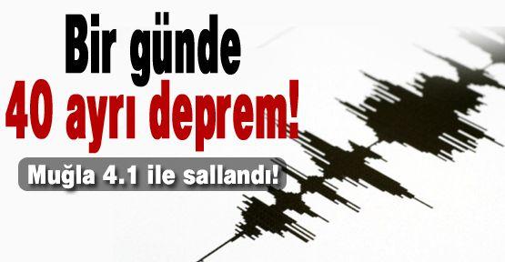 Türkiye'de bir günde 40 ayrı deprem!
