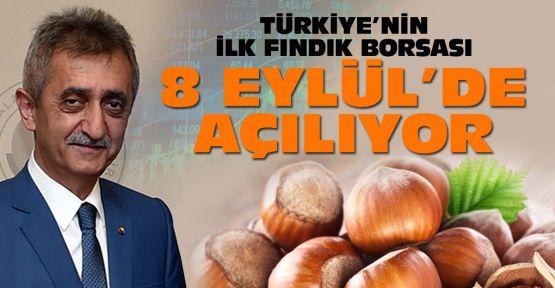 Türkiye'nin ilk fındık borsası açılıyor