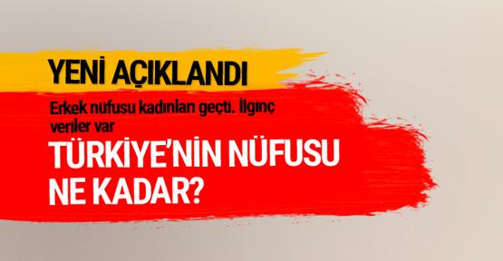 Türkiye'nin nüfusu 79 milyon 871 kişi