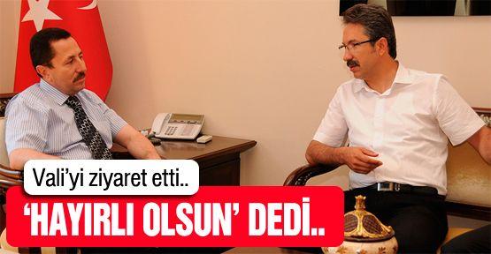 Ünal'dan Vali Balkanlıoğlu'na ziyaret