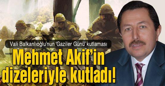 Vali Balkanlıoğlu'dan anlamlı kutlama!