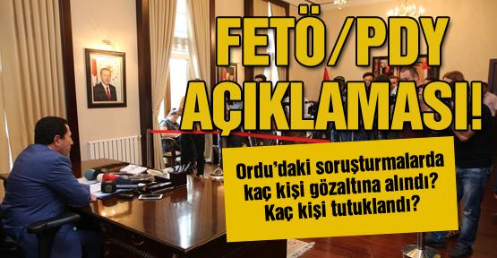 Vali'den FETÖ/PDY açıklaması!