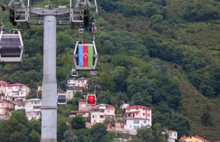Ordu'dan Azerbaycan'a 'bayraklı'...