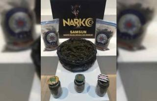 Samsun'da 5 kilogram uyuşturucuyla yakalanan...