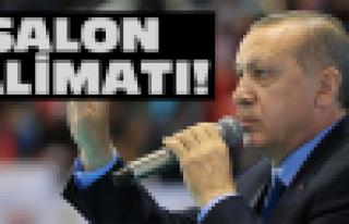 Erdoğan'dan Ordu'ya salon talimatı!