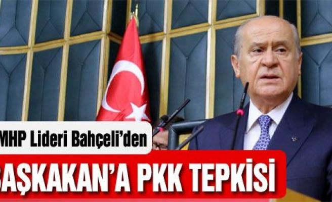 Bahçeli'den Başbakan'a PKK tepkisi