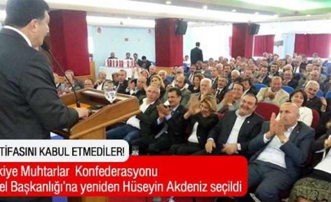 Hüseyin Akdeniz, yeniden TMK Genel Başkanı seçildi