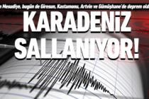 Karadeniz'de üst üste depremler!