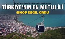 Türkiye'nin 'en mutlu şehri' Sinop değil Ordu