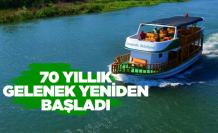 Yeşilırmak'ta 70 yıl sonra tekne gezisi