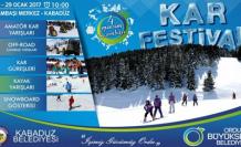 12.Geleneksel Kar Festivali başladı!