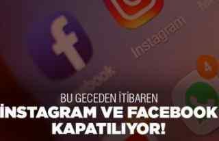 İnstagram ve Facebook kapatılıyor!