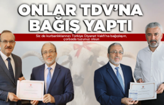 Kurban bağışları Türk Diyanet Vakfı'na