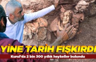 Kurul'da 2 bin 300 yıllık heykeller bulundu