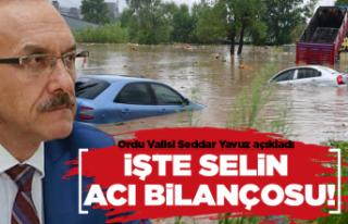 Vali Yavuz sel bilançosunu açıkladı!