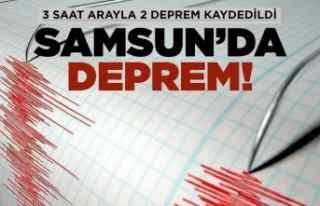 Samsun'da deprem! 2 kez sallandı...