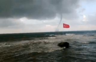 Ordu'da denizde hortum meydana geldi