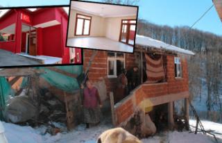 Ordu'da şehit evi yeniden yapıldı