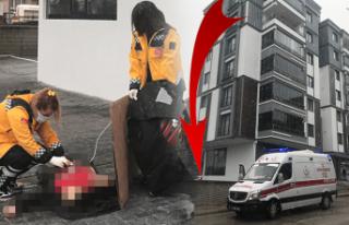 Altıncı kattan düşen kadın hayatını kaybetti