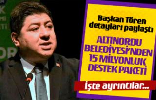 Altınordu Belediyesi'nden 15 Milyonluk destek