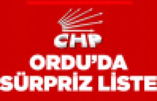 CHP'den liste sürprizi