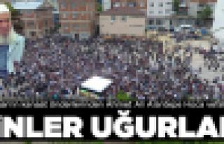 Korganlı Alantepe Hoca'yı binler uğurladı