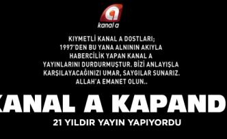 Kanal A televziyonu kapandı