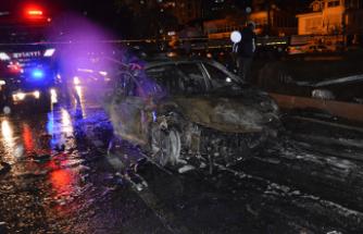 Feci kaza! 3 otomobil yandı 1 kişi öldü!