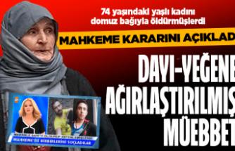Makbule Sarı'nın katillerine ağırlaştırılmış müebbet