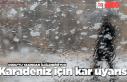 Ordu'nun iç ve yüksek kesimlerine kar uyarısı