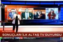 Ordu'da seçim sonuçlarını ilk Altaş Tv verdi