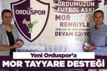 Yeni Orduspor'a 'Mor Tayyare' desteği