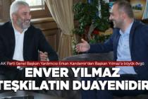 Kandemir'den Başkan Yılmaz'a büyük övgü
