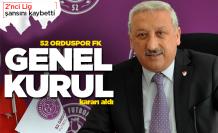 52 Orduspor FK Genel Kurul'a gidiyor