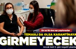 Eğer en az 2 doz aşı yaptırdıysanız!