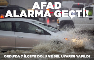 AFAD'dan 7 ilçeye sel ve dolu uyarısı!