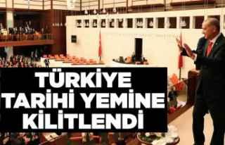 Türkiye tarihi yemine hazır
