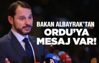 Berat Albayrak'tan Ordu mesajı
