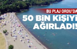 Bu plaj 50 bin kişiyi ağırladı!