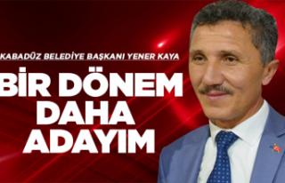 Başkan Yener Kaya 'bir dönem daha' dedi