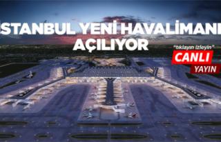 İstanbul yeni havalimanı açılıyor! Canlı Yayın...